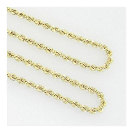 10K Yellow Gold rope chain GC15 3