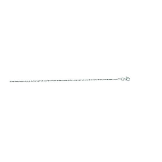 """""""14K White Gold Solid Diamond Cut Rope Chain 20"""""""" inches long x1.5mm wide"""""""