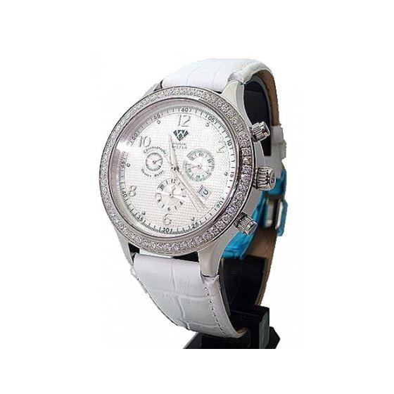 Aqua Master Chrono 2.45ctw Diamond Mens Watch AMC02
