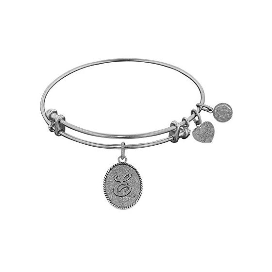 Angelica Ladies Initials Collection Bangle Charm 7.25 Inches (Adjustable) WGEL1159