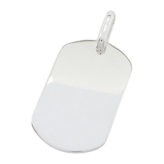 Plain dog tag pendant SB18 38mm tall and 19mm wide 1