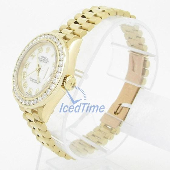 Rolex Datejust Mother of Pearl Dial Auto 54025 3