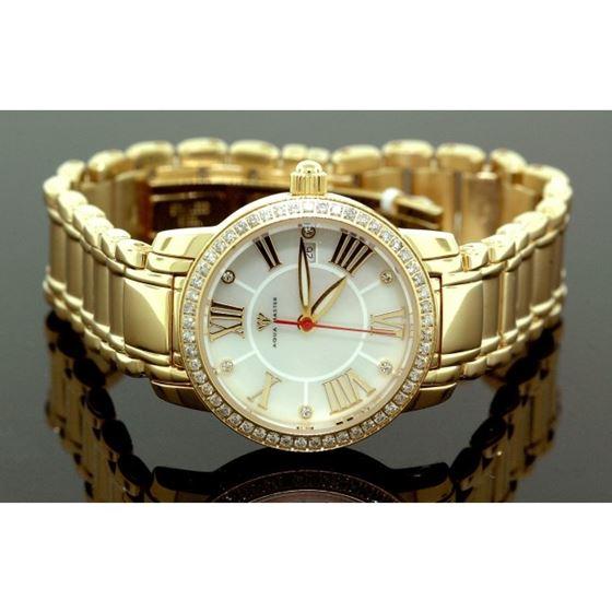Ladies Classic Diamond Aqua Master Watch Yellow w319e 1