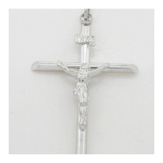 Jesus cut crucifix cross pendant SB37 48mm tall and 29mm wide 3