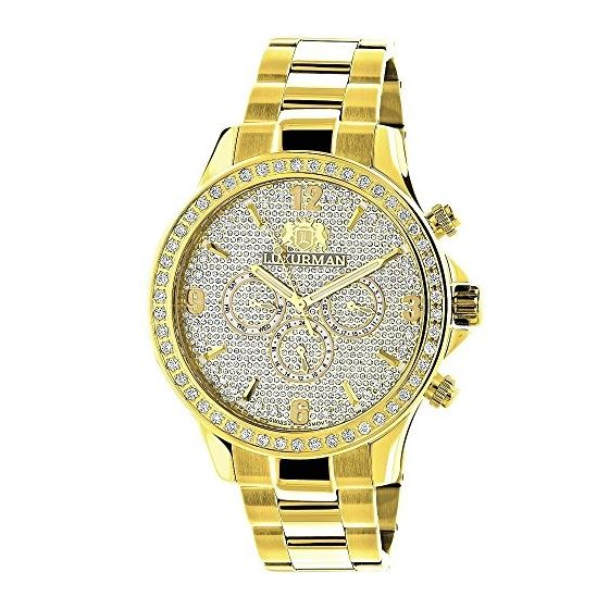 Mens Diamond Watch Liberty 2Ctw Of Diamonds By 18K