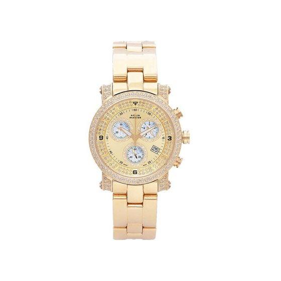 Unisex Power Two-Row Diamond Watch With Diamond Di