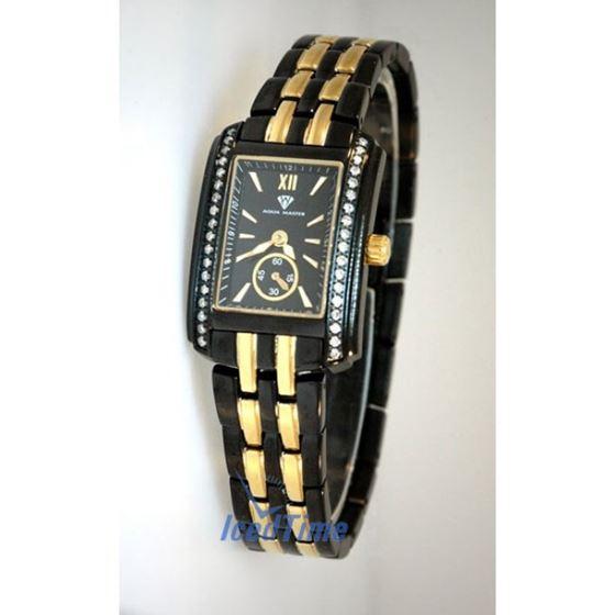 Aqua Master Swiss Classica Square 0.75 ct Diamond Ladies Watch 1