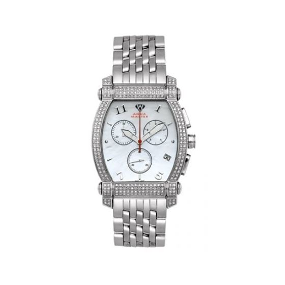 Aqua Master Diamond Watch Unisex Stainless Steel Watches With Half Full Diamonds 15-4W