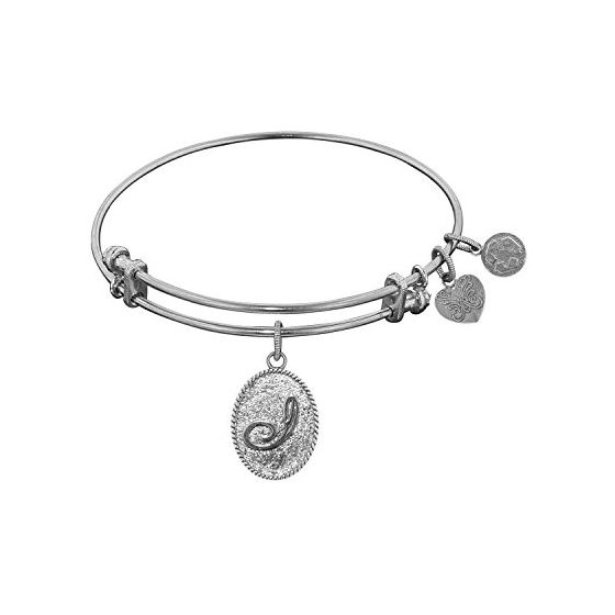 Angelica Ladies Initials Collection Bangle Charm 7.25 Inches (Adjustable) WGEL1163