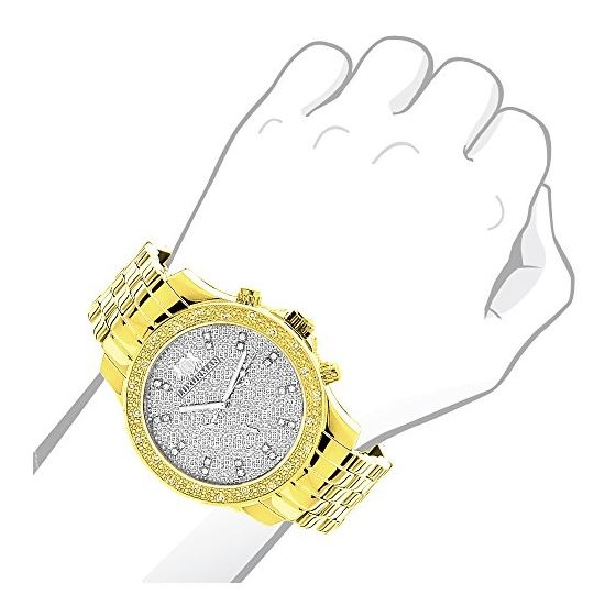 Two Tone White And Yellow Gold Plated Raptor Men-3