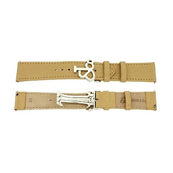 Jacob Co. Genuine Real Satin Gold Band Strap 20MM