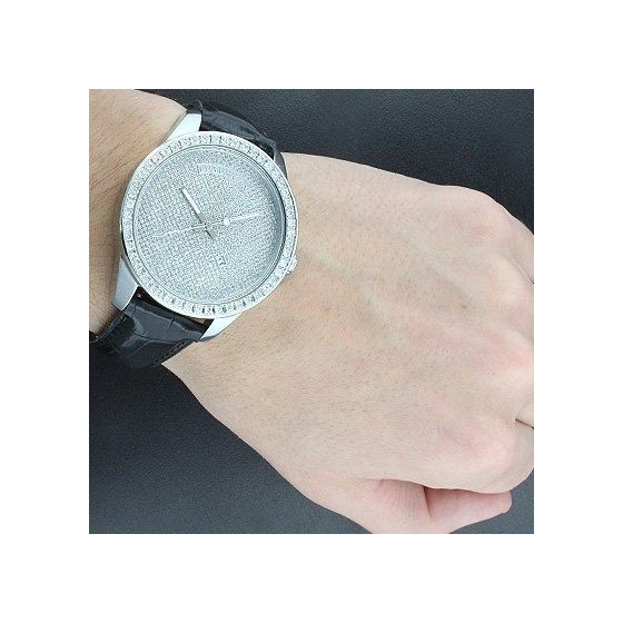 Iced Out Watches: Mens Diamond Watch 2Ct-3