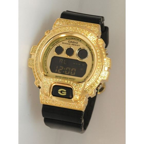 Casio G-Shock 5.00 ct Swarovski Iced Out Mens Watch G-104 1