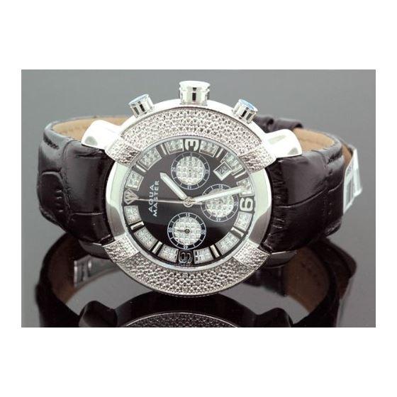 Mens Diamond Watch Hip Hop Jewelry 96-52