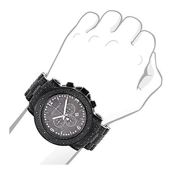 Black Diamond Watch For Men 2Ctw Of Diamonds By-3