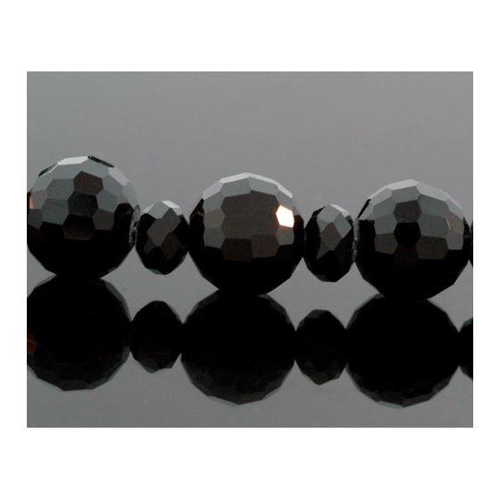 """Mens Genuine Black Onyx Crusifix Rosary Necklace 32"""" K1223 3"""