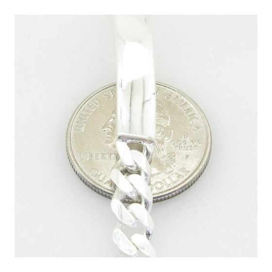 Curb Link ID Bracelet Necklace Length - 7.5 inches Width - 6.5mm 3