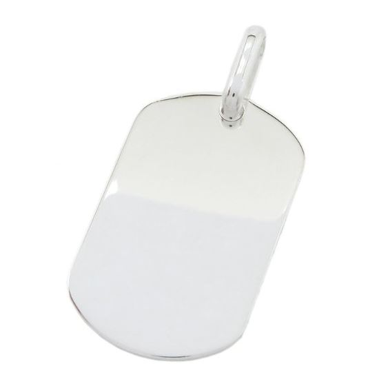 Plain dog tag pendant SB22 46mm tall and 24mm wide 1