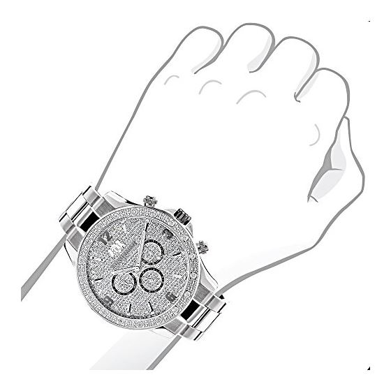 Mens Liberty Real Diamond Watches: Luxur 90933 3