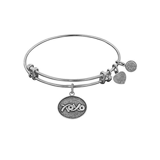 Angelica Ladies Love and Hearts Collection Bangle Charm 7.25 Inches (Adjustable) WGEL1040