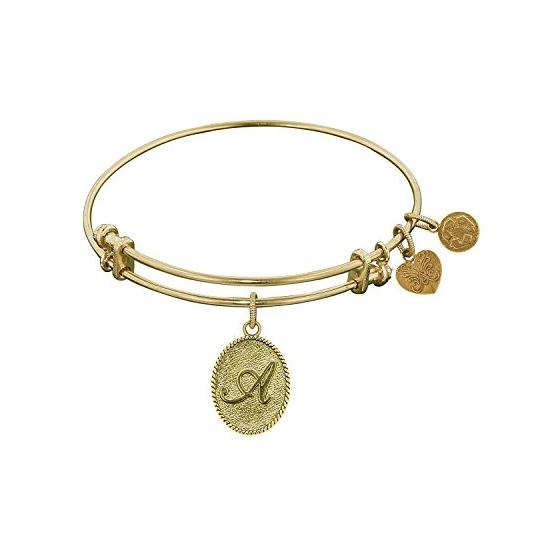 Angelica Ladies Initials Collection Bangle Charm 7.25 Inches (Adjustable) GEL1155