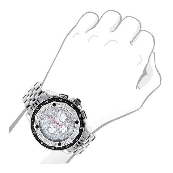 Centorum Large Mens Real Diamond Watch 0 89689 3