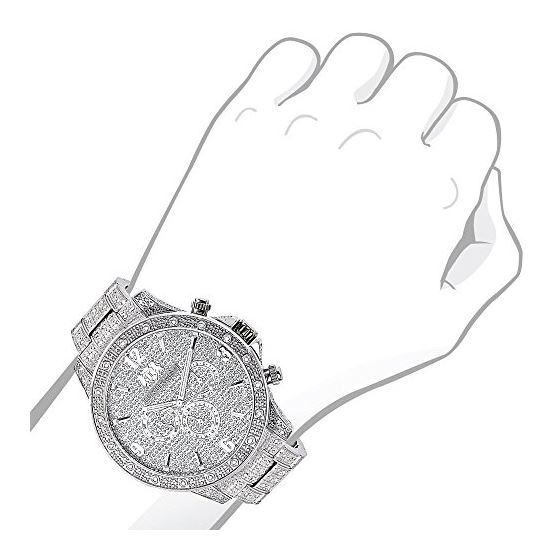 Mens Diamond Fully Iced Out Watch 1.25Ctw Of Dia-3
