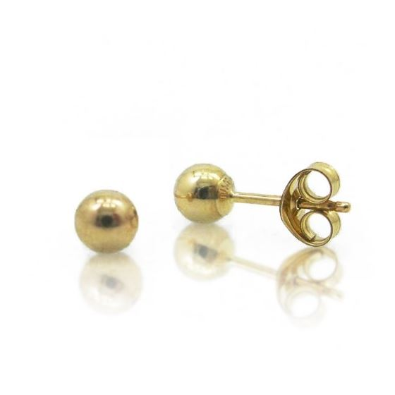 14k Yellow Gold 6mm Ball Stud Earrings