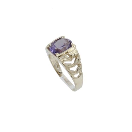 10k Yellow Gold Syntetic purple gemstone ring ajr21 Size: 2.25 1