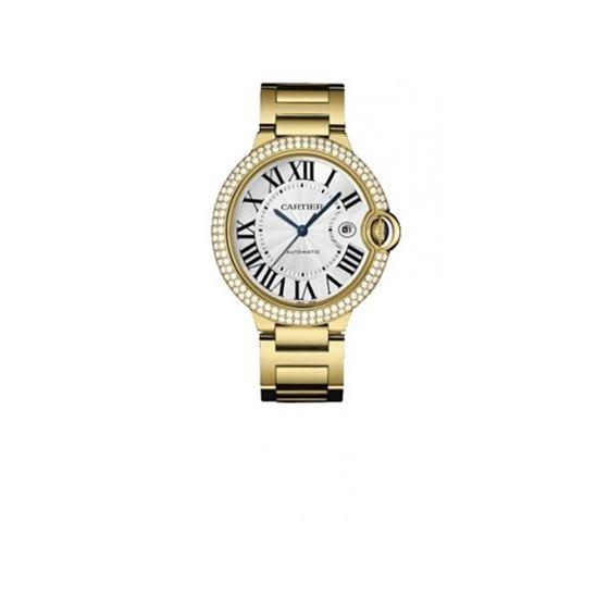 Cartier Ballon Bleu Mens Gold Watch WE9007Z3