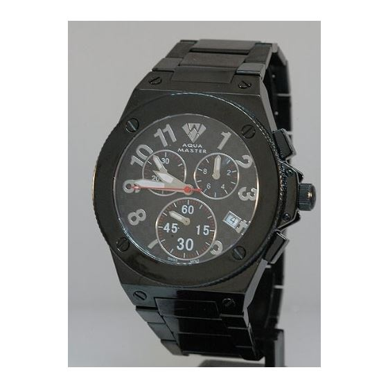 Men's Black Swiss Made Watch