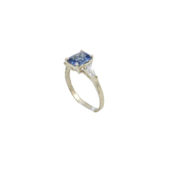10k Yellow Gold Syntetic purple gemstone ring ajr36 Size: 7.5 1