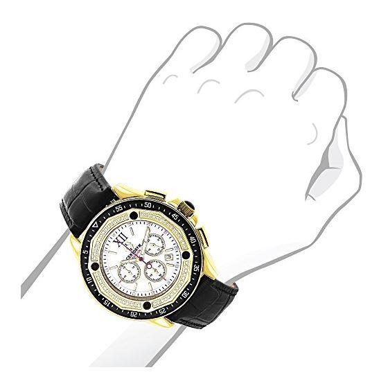 Centorum Mens Chronograph Diamond Watch  89681 3