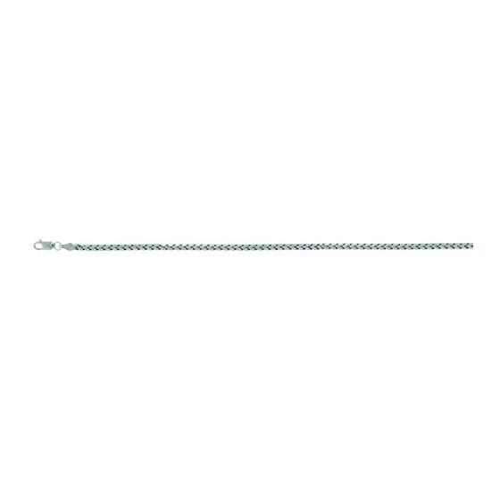 Sterling Silver 3.15 mm Wide Soft Franco Chain 8 1/2 Inch Long