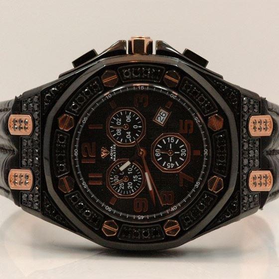 Aqua Master Royal Oak Mens Diamond Watch 8.50ctw W3254 1
