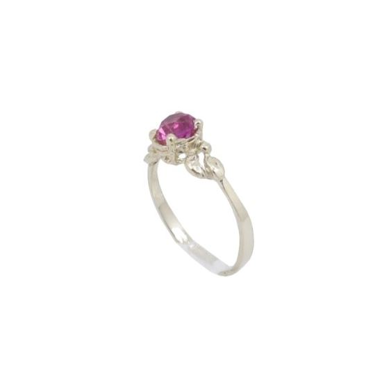 10k Yellow Gold Syntetic red gemstone ring ajr5 Size: 3.5 1