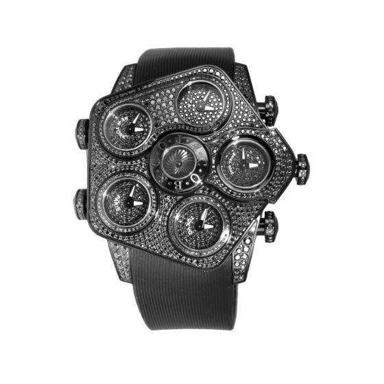Jacob Co. Grand GR5-1 Black PVD Metallic Dials 7.1
