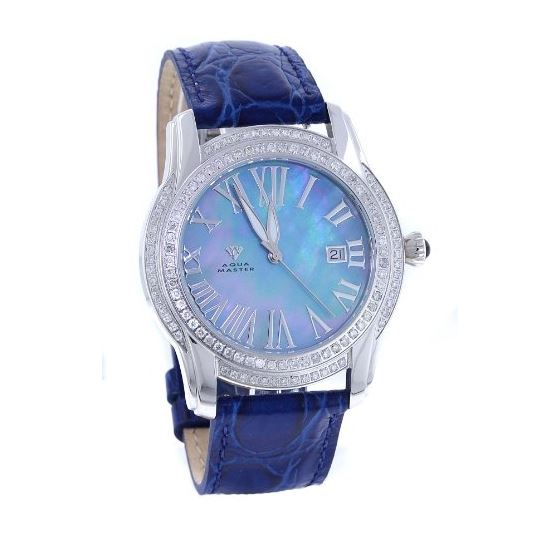 Men's Classic 1.70Ct Diamond Watch With Blue L
