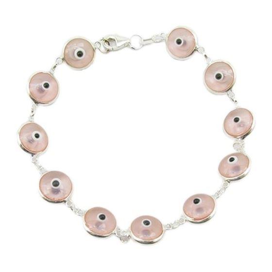 Womens Sterling silver Pink evil eye bra 84510 1