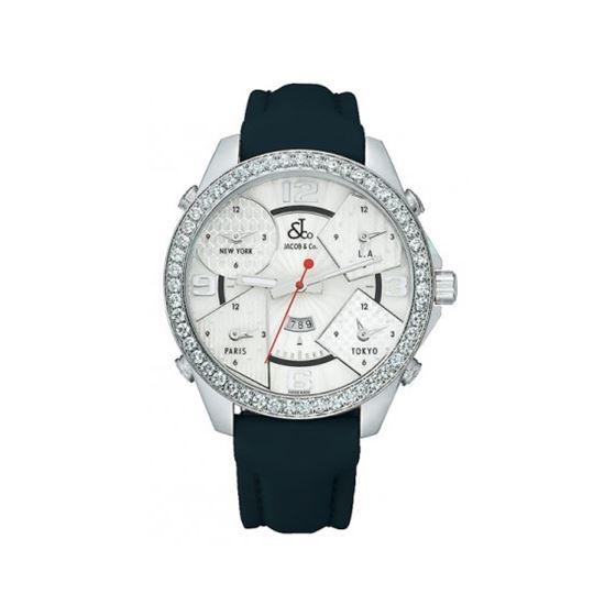 Jacob  Co Five Time Zone 47mm Diamond Watch