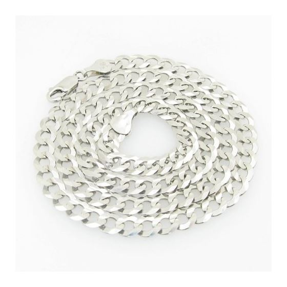 Mens White-Gold Cuban Link Chain Length - 20 inches Width - 5.5mm 1