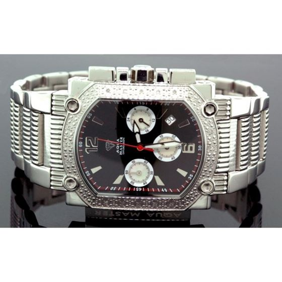 Agua Master 0.16ctw Mens Diamond Watch w 55531 1