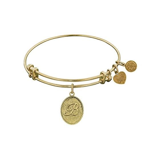 Angelica Ladies Initials Collection Bangle Charm 7.25 Inches (Adjustable) GEL1156
