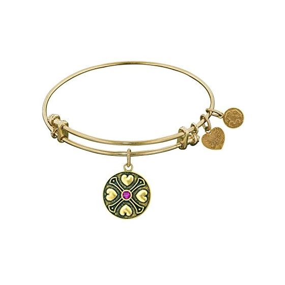 Angelica Ladies Birthstones Collection Bangle Charm 7.25 Inches (Adjustable) GEL1183