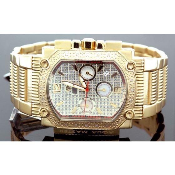 Agua Master 0.16ctw Mens Diamond Watch w 55546 1