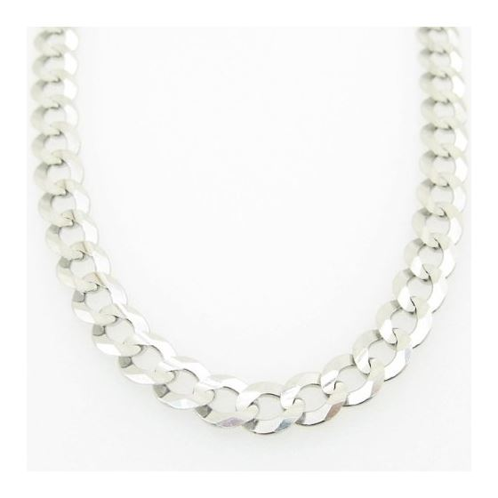 Mens White-Gold Cuban Link Chain Length - 24 inches Width - 5.5mm 3