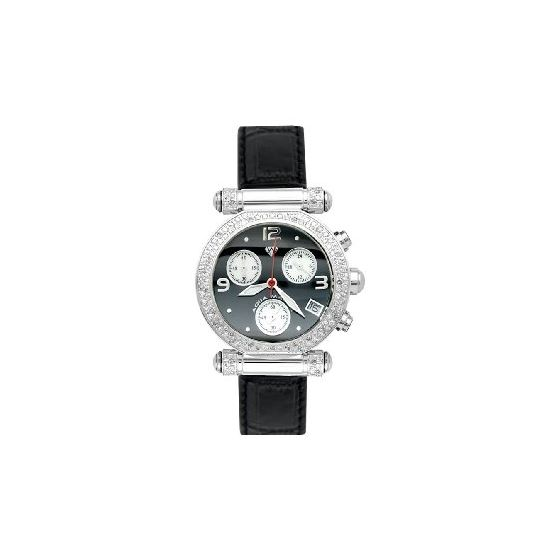 NEW! Ladies' Round Diamond Watch, 0.85 Ctw