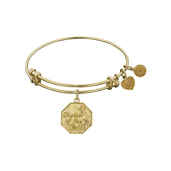 Angelica Ladies Celebrations and Milestones Collection Bangle Charm 7.25 Inches (Adjustable) GEL1042