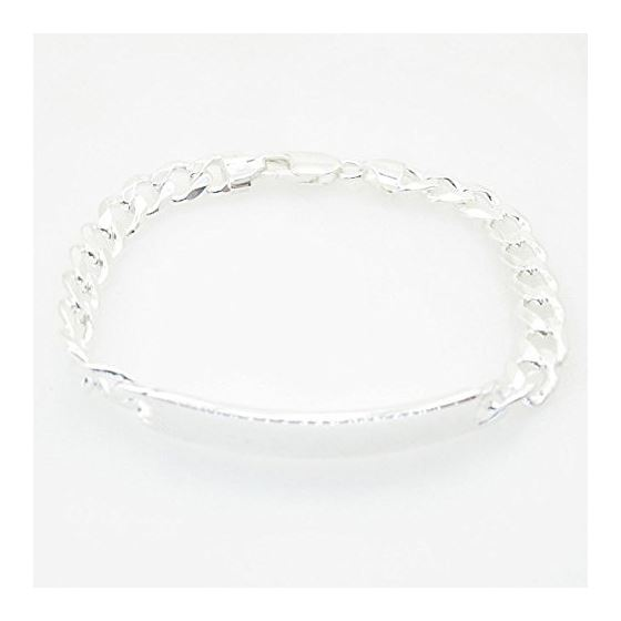 Curb Link ID Bracelet Necklace Length - 7.5 inches Width - 7.5mm 1