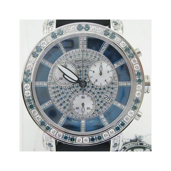 Blue And White Benny Co Diamond Watch BNC5 1